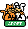 Adopt a pet vector image