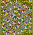 children rug - isometric carpet for game with vector image