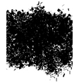 grunge abstract pattern in black over white vector image