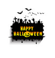 halloween design background vector image