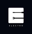 mechanic logotype theme letter E vector image