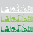 Panorama city renewable vector image