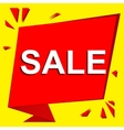 Sale poster with SALE text Advertising vector image