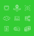 servers networks icons set linear style vector image