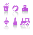 Set Icons toys vector image
