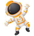 spaceman in spacesuit flying vector image