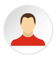 Young man with haircut avatar icon flat style vector image