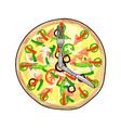 Pizza Pie Clock vector image vector image