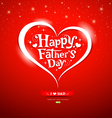Happy father day lettering Greeting Card vector image vector image
