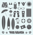 Under the Sun Beach Icons vector image