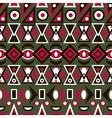 Folk ornamental textile seamless pattern on green vector image