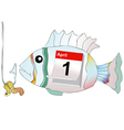 April 1 do not take the bait as a fish at hook vector image