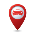 car RED pointer vector image vector image