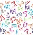 Alphabet background vector image