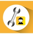 construction worker wrench tool graphic vector image