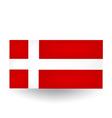 Danish Flag vector image