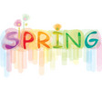 font spring vector image