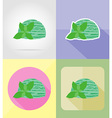 ice cream flat icons 13 vector image