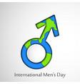 international mens day background vector image