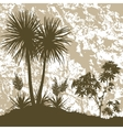 Palms Plant and Abstract Background vector image