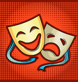 theatrical masks comic book style vector image
