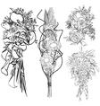 wedding bouquet set vector image