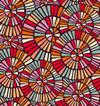 Background pattern with colorful circle mosaic art vector image