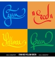 colors hand lettering vector image vector image