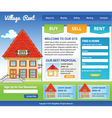 Template for real estate vector image