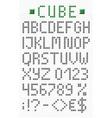 Geometric uppercase english alphabet vector image