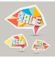 Sale Paper Retro Labels Set vector image vector image