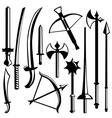sword set vector image vector image