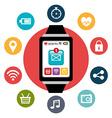 Wearable Technology digital design vector image