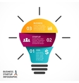 light bulb infographic Template for lamp vector image