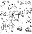 Seaside element of doodle vector image