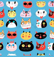 bright seamless pattern of multi-colored vector image