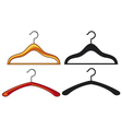 clothes hangers collection vector image