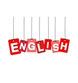 colorful hanging cardboard Tags - english vector image