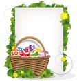 Easter gift basket vector image