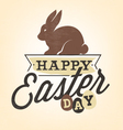 Easter Greeting Card with Rabbit in Vintage Style vector image