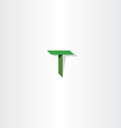 green letter t logo logotype vector image