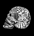 hand draw a skull zentangle trend patterns vector image