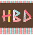 HBD card vector image