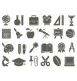 Icons on the theme of school and education vector image