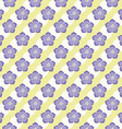 Seamless Flowers Pattern Summer Background Froral vector image