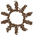 symbol of coffee sun vector image vector image