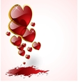 vector abstract hearts background vector image