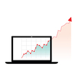 computer graph growth vector image vector image