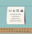 clothing label and washing symbol vector image