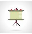 Presentation screen flat icon vector image